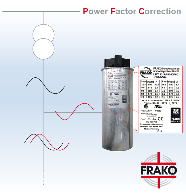 Capacitor bank epli for Power factor correction capacitors for motors